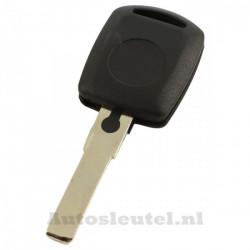 Skoda - contactsleutel met ruimte voor transponder - sleutelbaard recht met inkeping