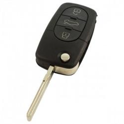 Skoda 3-knops klapsleutel - sleutelbaard recht met inkeping zijkant