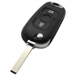 Opel 2-knops klapsleutel - sleutelbaard recht (model 2)