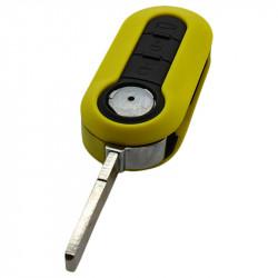 Fiat 3-knops klapsleutel geel - sleutelbaard recht
