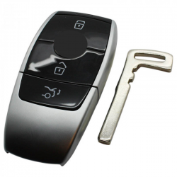 Mercedes 3-knops Smart Key Behuizing (zwart)