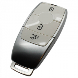 Mercedes 3-knops Smart Key Behuizing (wit)