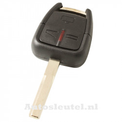 Opel 3-knops sleutelbehuizing - sleutelbaard recht met elektronica 433MHZ - ID40 transponder