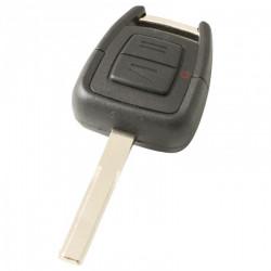 Opel 2-knops sleutelbehuizing - sleutelbaard recht met elektronica 433MHZ - ID40 transponder (model 2)