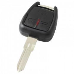 Opel 3-knops sleutelbehuizing - sleutelbaard punt inkeping links met elektronica 433MHZ - ID40 transponder