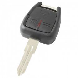 Opel 3-knops sleutelbehuizing - sleutelbaard punt inkeping rechts met elektronica 433MHZ - ID40 transponder