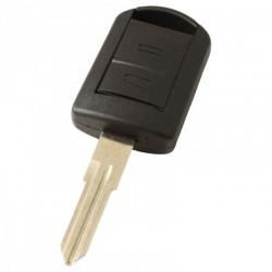 Opel 2-knops sleutelbehuizing - sleutelbaard punt inkeping rechts met elektronica 433MHZ - ID40 transponder