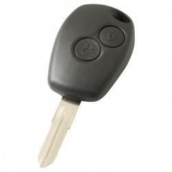 Renault 2-knops sleutelbehuizing - sleutelbaard punt met elektronica 433MHZ - 7946 transponder (model 2)