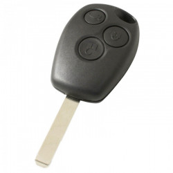Renault 3-knops sleutelbehuizing - sleutelbaard recht met elektronica 433MHZ - 7947 transponder