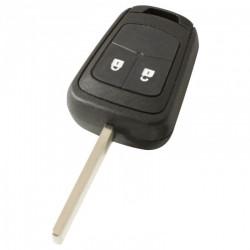 Opel 2-knops sleutelbehuizing - sleutelbaard recht met elektronica 433MHZ - 7941 transponder
