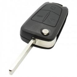 Opel 3-knops klapsleutel met elektronica 433MHZ - ID46 - PCF7946 transponder voor Opel Vectra en Opel Signum