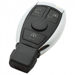 Mercedes 3-knops smart key behuizing met elektronica 433MHZ (model 2)