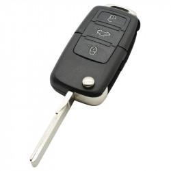 Volkswagen 3-knops klapsleutel - sleutelbaard recht met inkeping met elektronica 315 MHZ - ID48 transponder - 1J0959753DJ