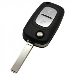 Renault 2-knops klapsleutel - sleutelbaard recht met elektronica 433MHZ - PCF7946 - ID46 transponder