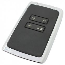 Renault 4-knops smartcard met elektronica 433MHZ - PCF7953M transponder - geschikt Renault Megane, Espace en Talisman