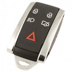 Jaguar 5-knops Smart Key Behuizing met elektronica 433MHZ - PCF7953A transponder