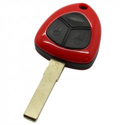 Ferrari 3-knops sleutelbehuizing - sleutelbaard recht met elektronica 433MHZ en ID48 transponder
