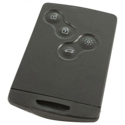 Renault 4-knops smartcard met elektronica 433 MHZ - PCF7953M - HITAG AES - 4A CHIP transponder
