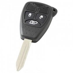 Jeep 3-knops sleutelbehuizing - sleutelbaard punt met elektronica 433MHZ