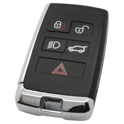 Land Rover 5-knops smart key met elektronica 433MHZ - ID49 transponder voor oa Range Rover