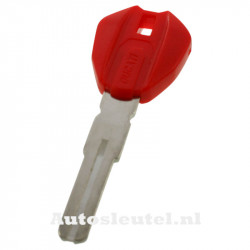 Ducati motorsleutel rood - sleutelbaard recht met inkeping midden