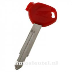 Honda motorsleutel rood - sleutelbaard punt met inkeping rechts