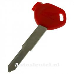 Honda motorsleutel rood - sleutelbaard punt met inkeping rechts (model 2)
