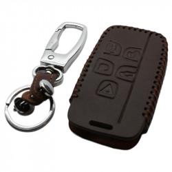 Land Rover 5-knops smart key sleutelhoes - bruin
