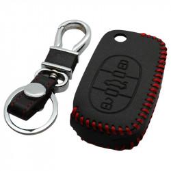 Audi 3-knops klapsleutel sleutelhoes - zwart