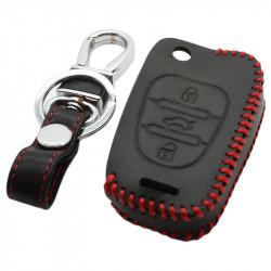 Kia 3-knops klapsleutel sleutelhoes - zwart