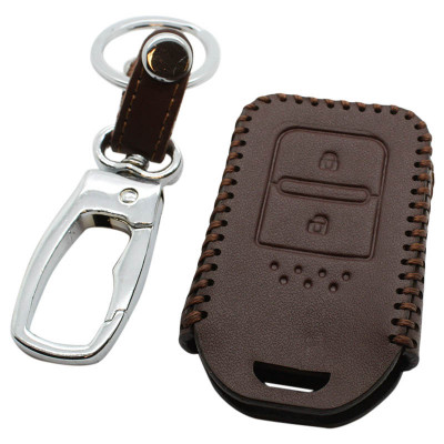 Honda 2-knops afstandsbediening sleutelhoes - bruin
