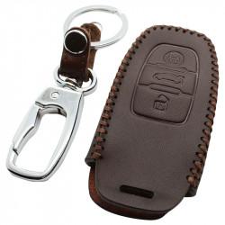 Audi 3-knops smart key sleutelhoes - bruin