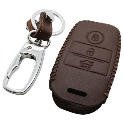 Kia 3-knops smart key sleutelhoes - bruin