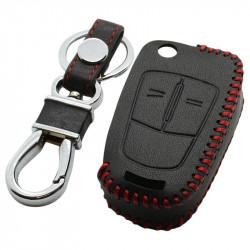 Opel 2-knops klapsleutel sleutelhoes - zwart