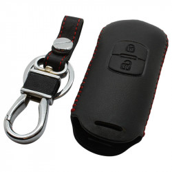 Mazda 2-knops smart key sleutelhoes - zwart