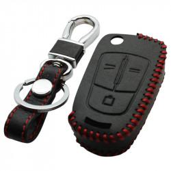Opel 3-knops klapsleutel sleutelhoes - zwart (model 2)