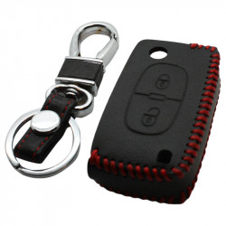 Peugeot 2-knops klapsleutel sleutelhoes - zwart