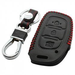 Hyundai 3-knops klapsleutel sleutelhoes - zwart