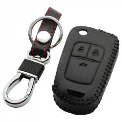Opel 3-knops klapsleutel sleutelhoes - zwart