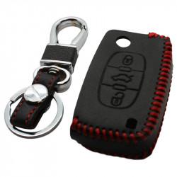Citroën 3-knops klapsleutel sleutelhoes - zwart