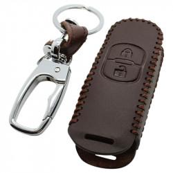 Mazda 2-knops smart key sleutelhoes - bruin