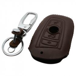 BMW 3-knops smart key sleutelhoes - bruin