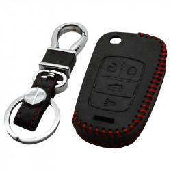 Opel 4-knops klapsleutel sleutelhoes - zwart