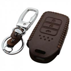 Honda 3-knops smart key sleutelhoes - bruin