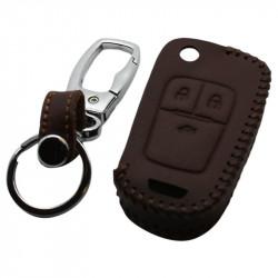 Chevrolet 3-knops klapsleutel sleutelhoes - bruin