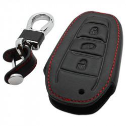 Peugeot 3-knops smart key sleutelhoes - zwart
