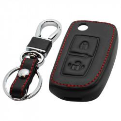 Mercedes 2-knops klapsleutel sleutelhoes - zwart