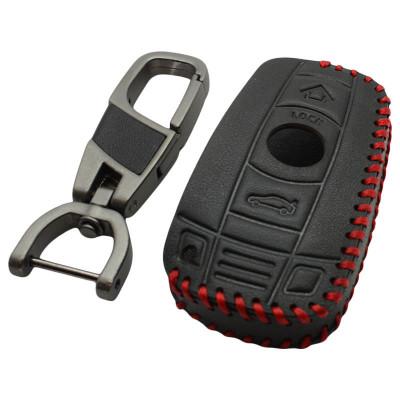 BMW 3-knops smart key sleutelhoes - zwart