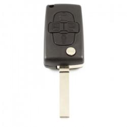 Citroën 4-knops klapsleutel - sleutelbaard recht - geen ruimte voor batterij