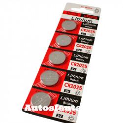 Knoopcelbatterij CR2025 -  5 stuks